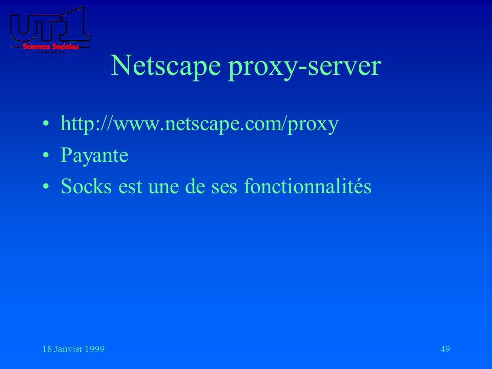 Netscape proxy-server