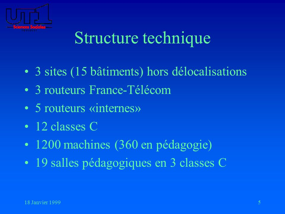 Structure technique 3 sites (15 bâtiments) hors délocalisations