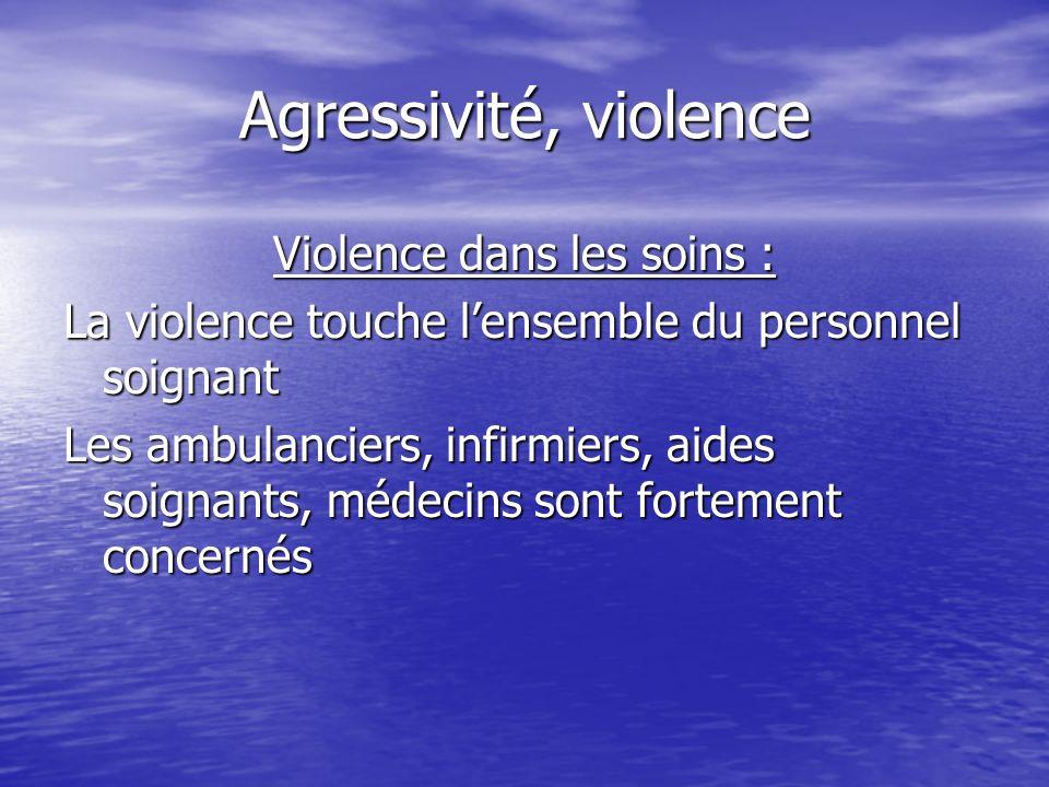 Violence dans les soins :