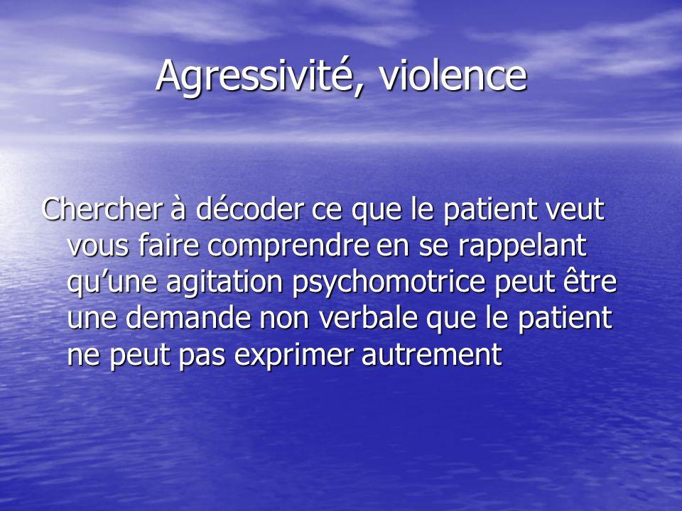 Agressivité, violence