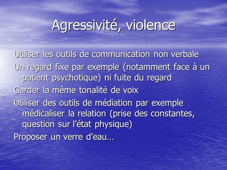 Agressivité, violence Utiliser les outils de communication non verbale