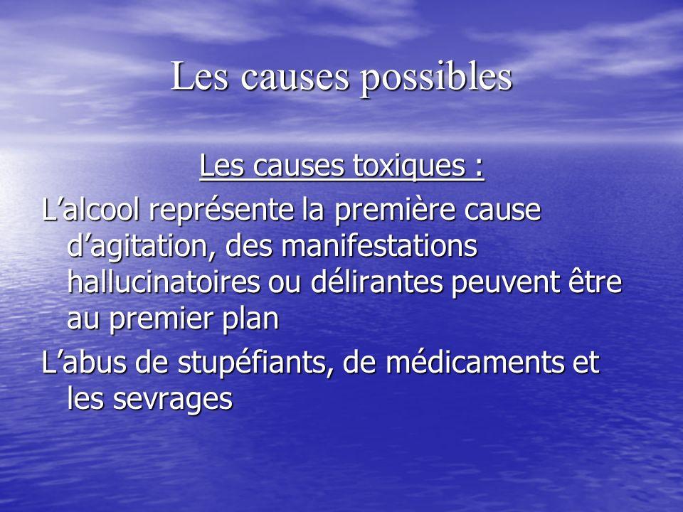 Les causes possibles Les causes toxiques :