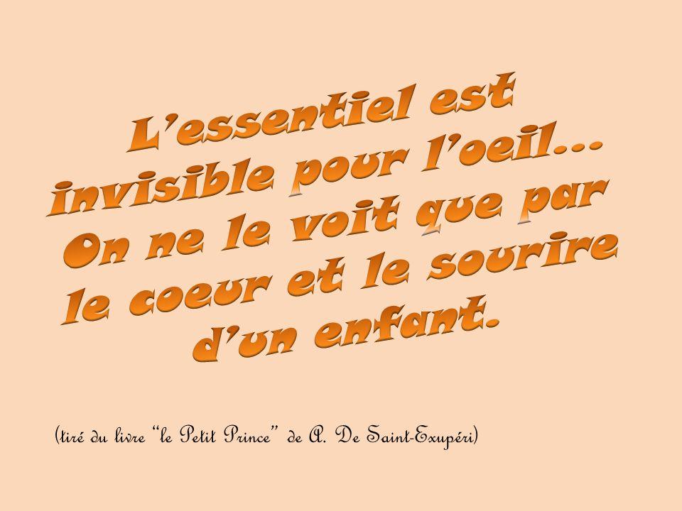 L'essentiel est invisible pour l'oeil…