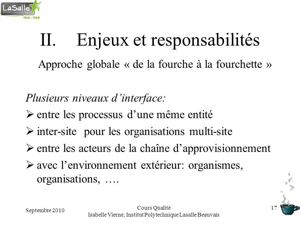 Enjeux et responsabilités