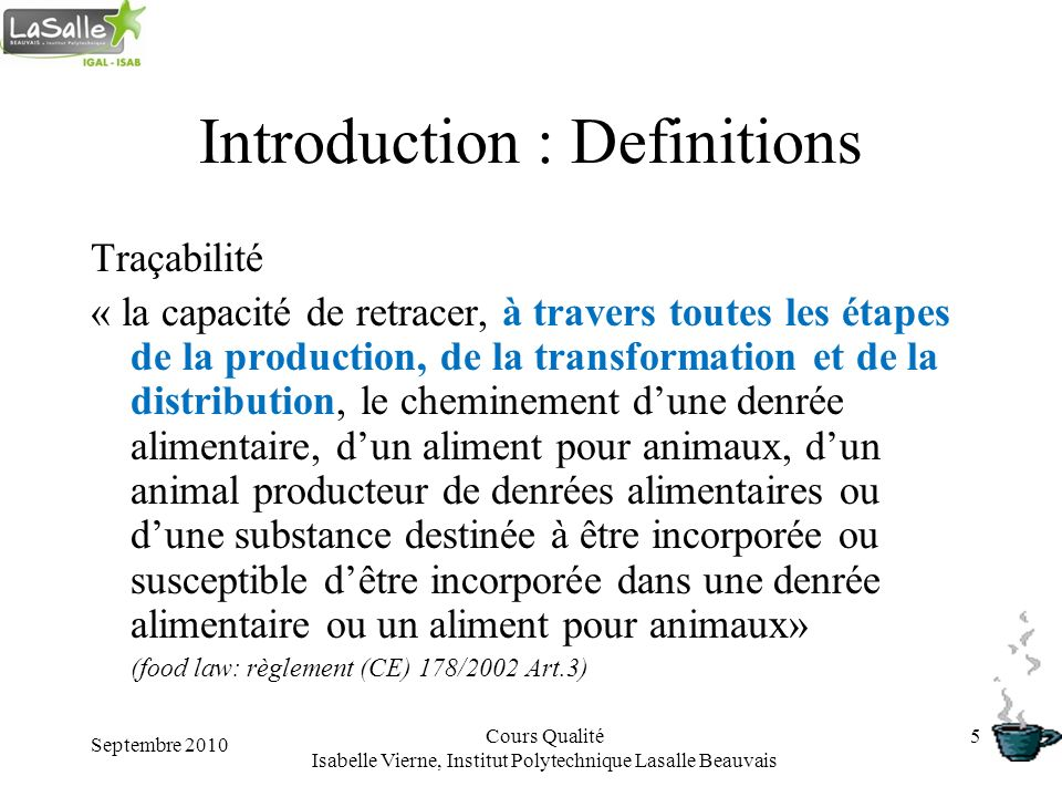 Introduction : Definitions