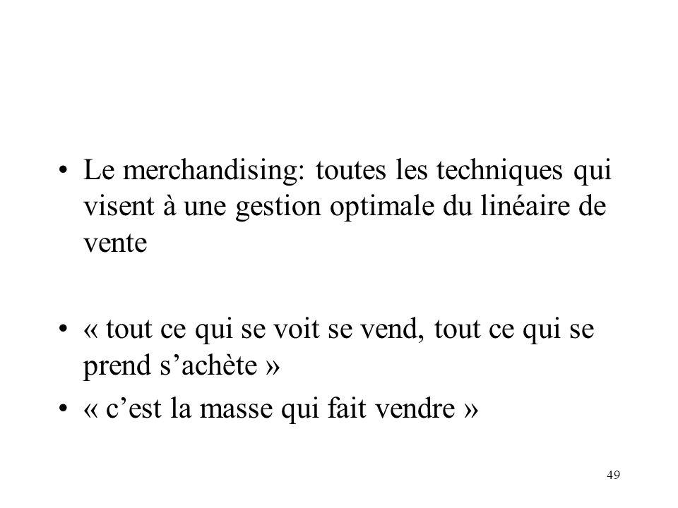 Le merchandising: toutes les techniques qui visent à une gestion optimale du linéaire de vente