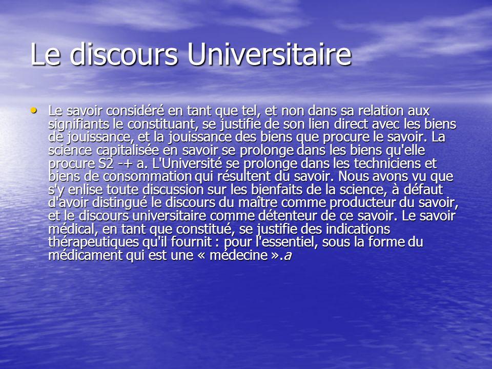 Le discours Universitaire