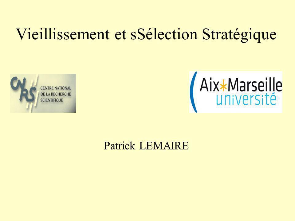 Vieillissement et sSélection Stratégique