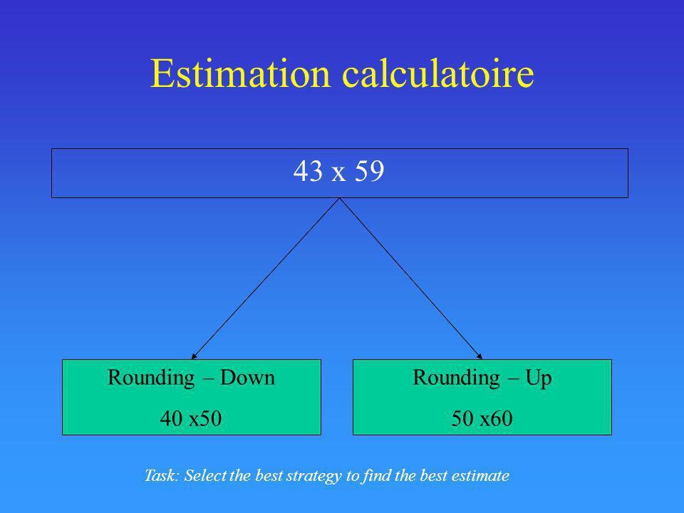 Estimation calculatoire