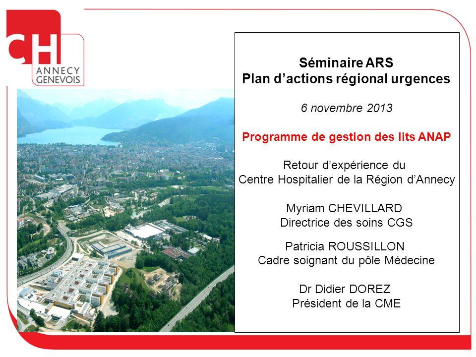 Plan d'actions régional urgences Programme de gestion des lits ANAP