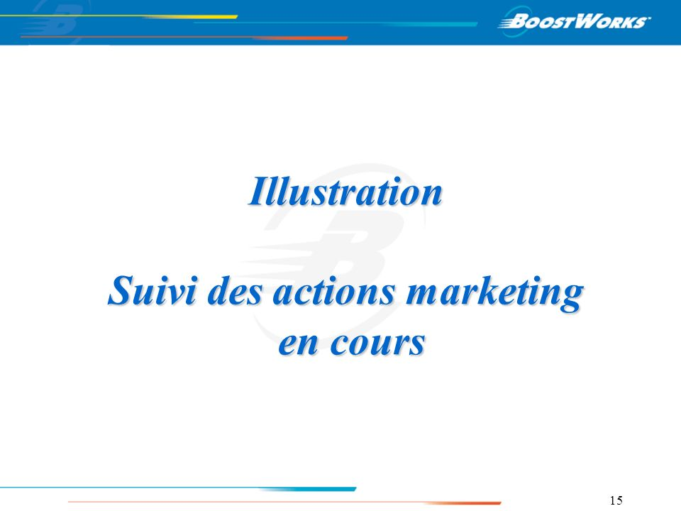 Illustration Suivi des actions marketing en cours