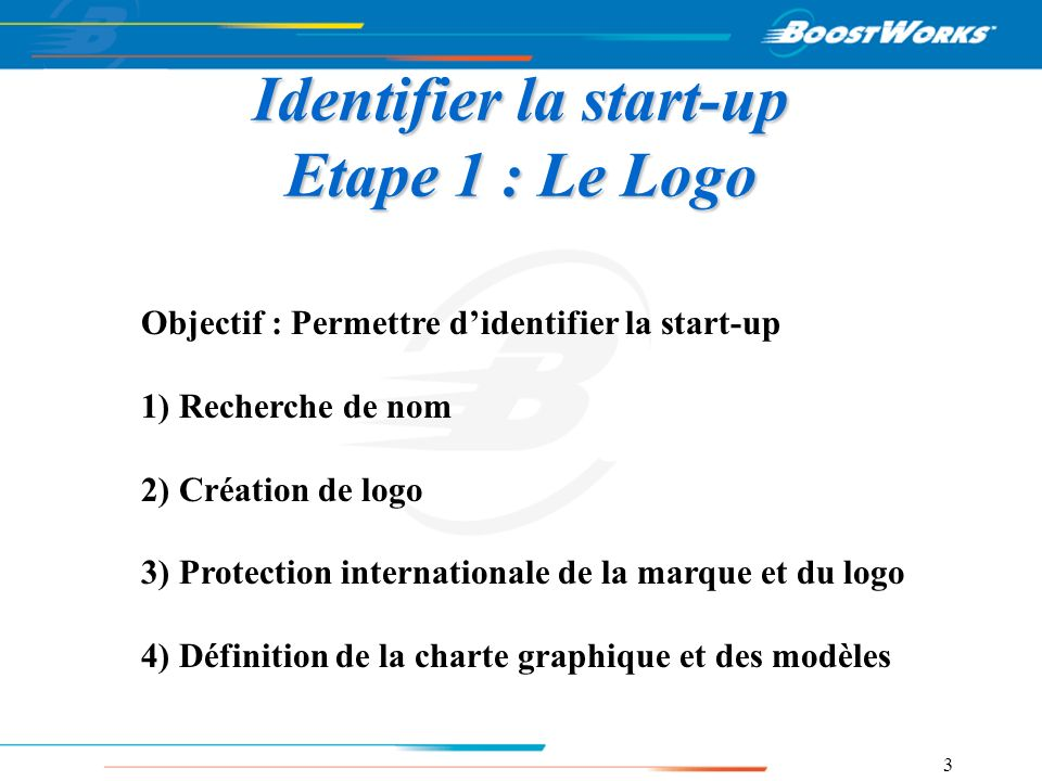 Identifier la start-up Etape 1 : Le Logo