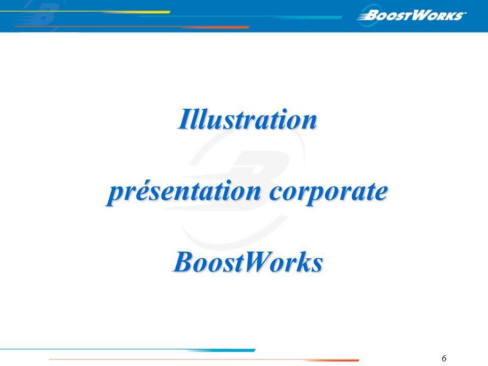 Illustration présentation corporate BoostWorks