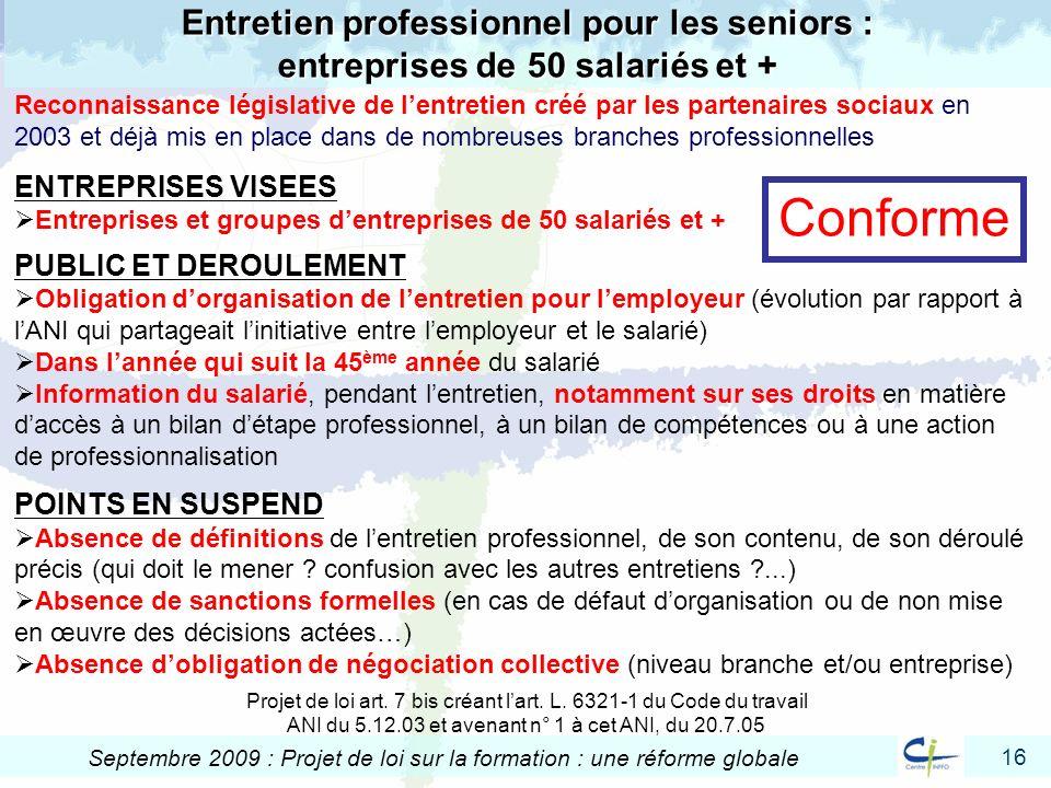 Entretien professionnel pour les seniors : entreprises de 50 salariés et +