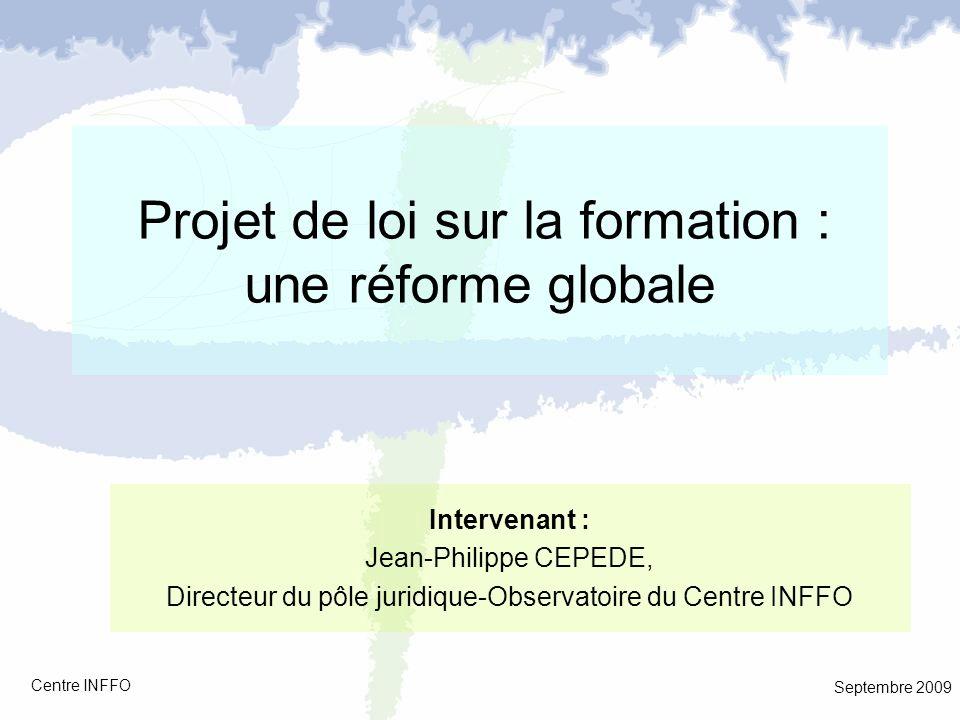 Projet de loi sur la formation : une réforme globale