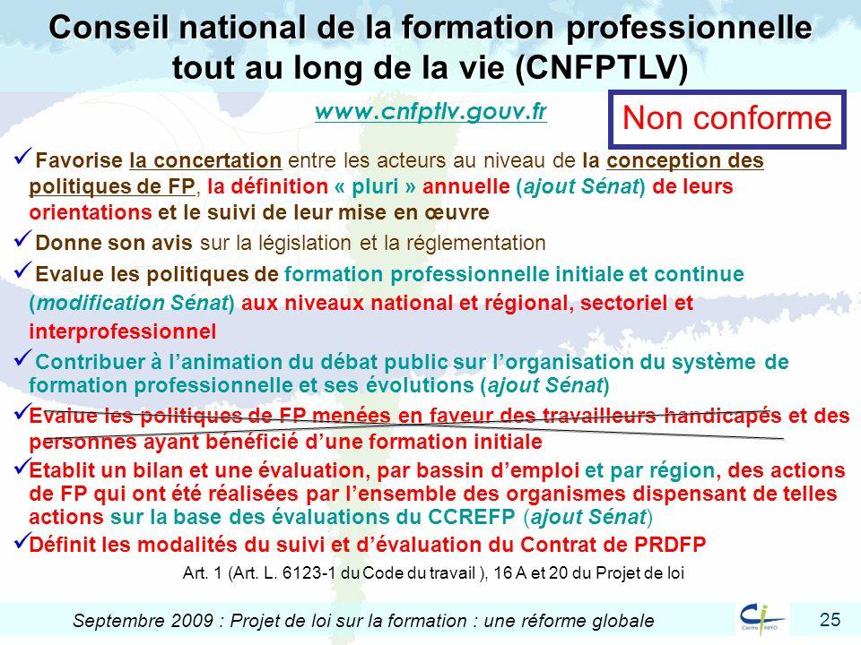 Conseil national de la formation professionnelle tout au long de la vie (CNFPTLV)