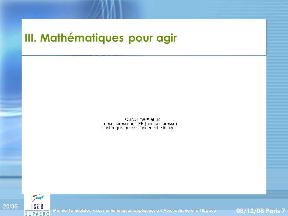 III. Mathématiques pour agir