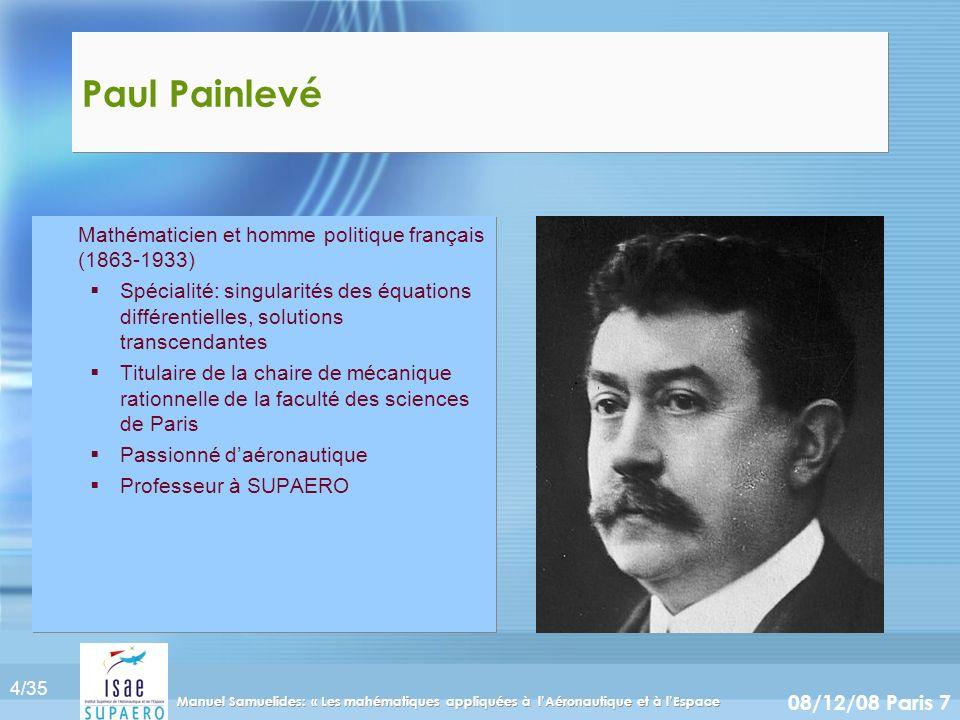 Paul Painlevé Mathématicien et homme politique français (1863-1933)
