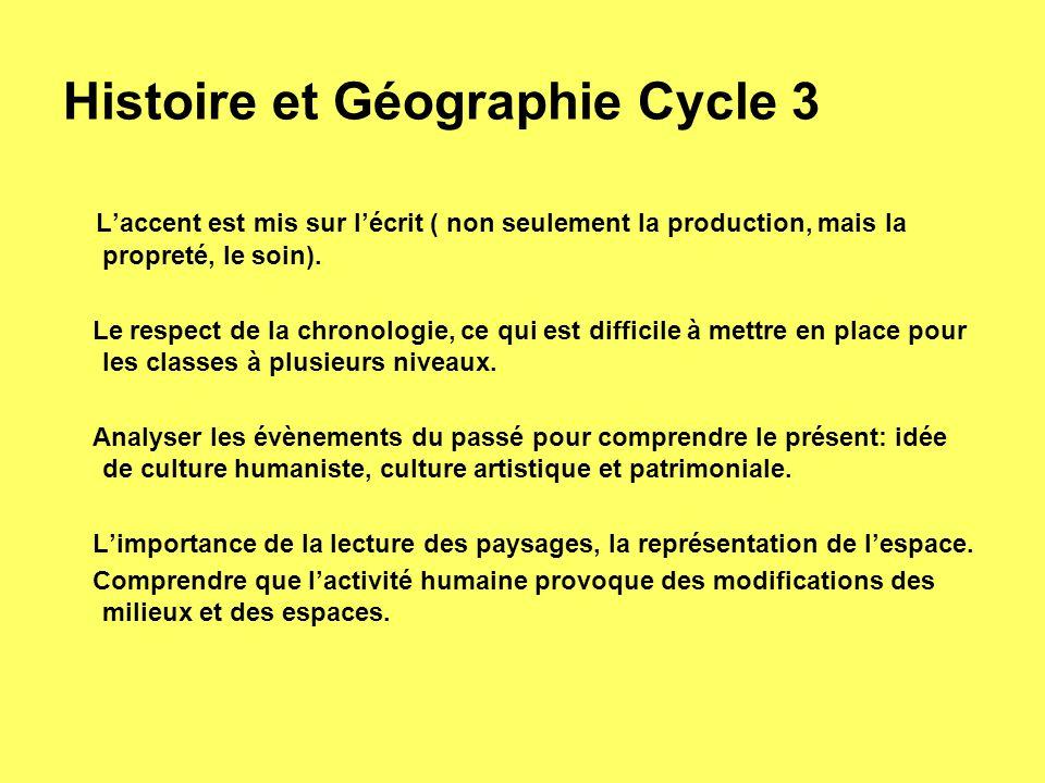 Histoire et Géographie Cycle 3