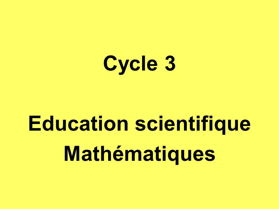 Education scientifique
