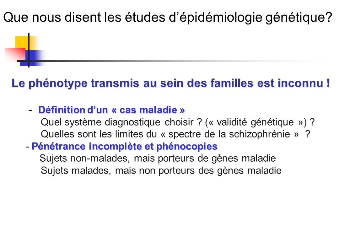 Que nous disent les études d'épidémiologie génétique
