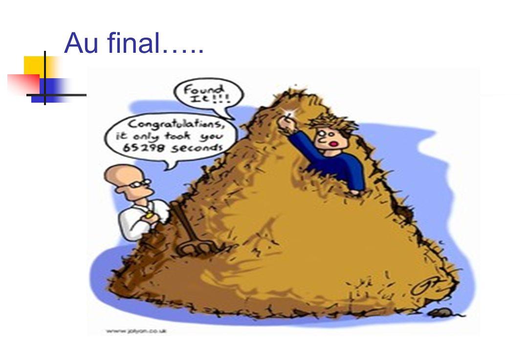 Au final…..