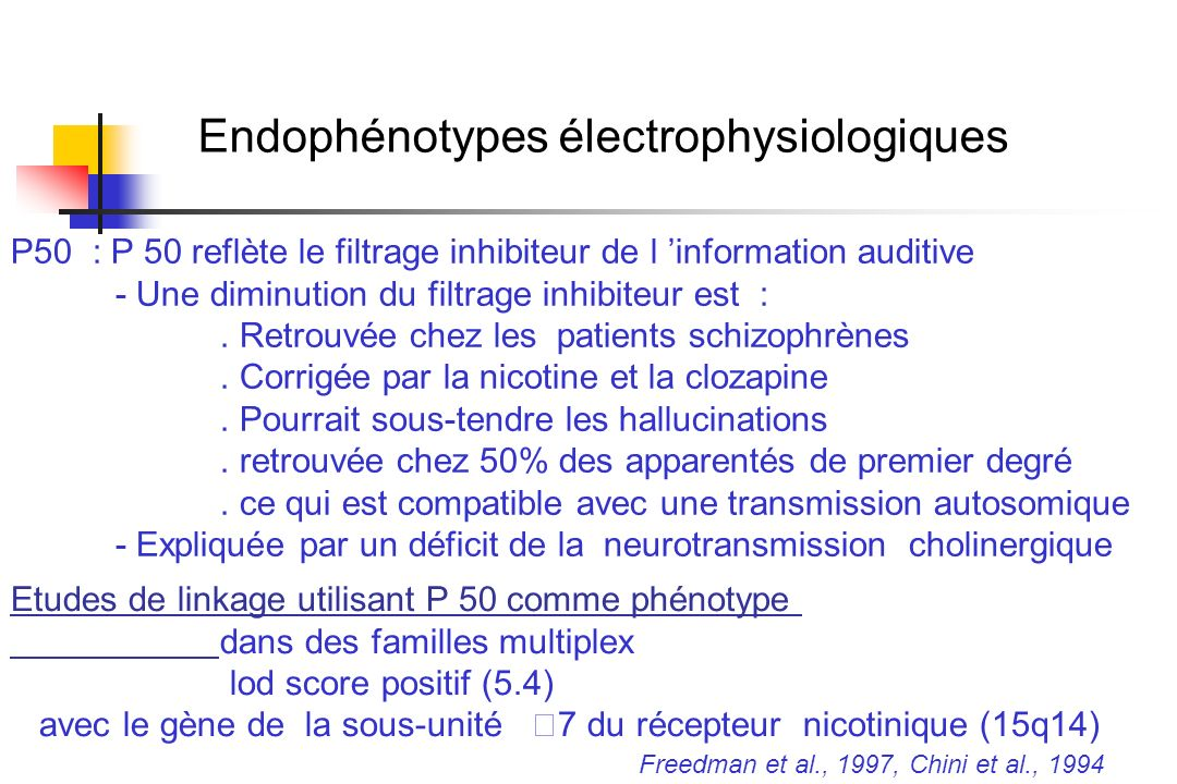 Endophénotypes électrophysiologiques