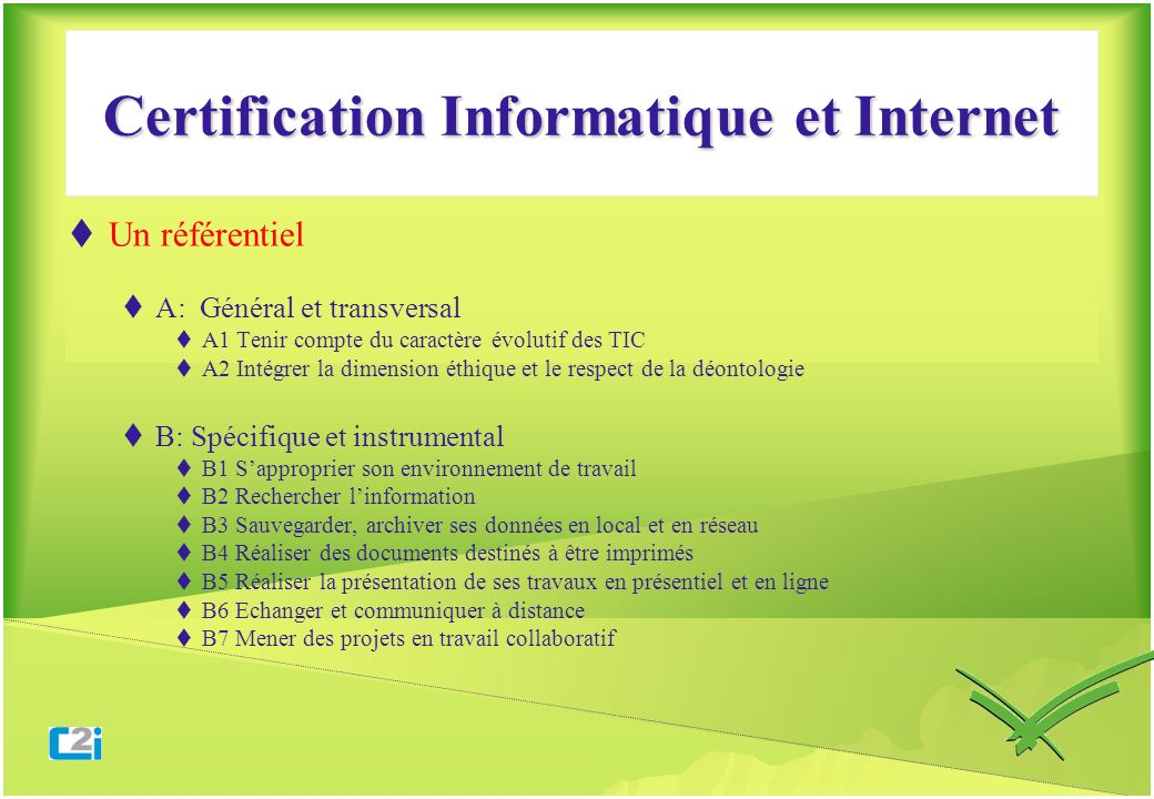 Certification Informatique et Internet