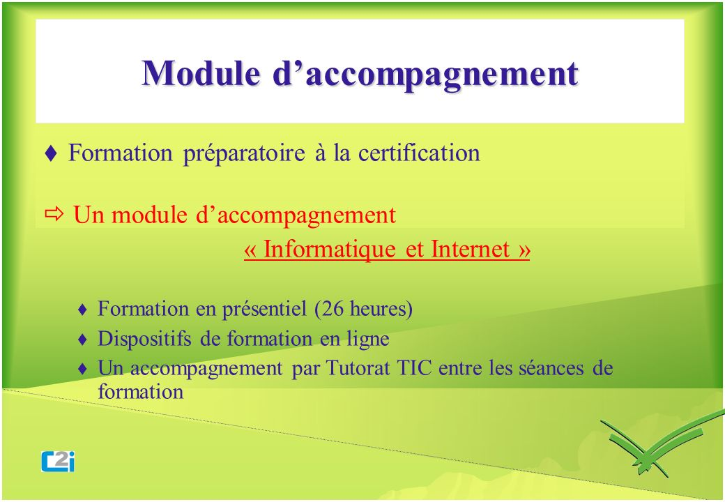 Module d'accompagnement