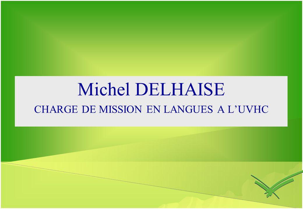 CHARGE DE MISSION EN LANGUES A L'UVHC