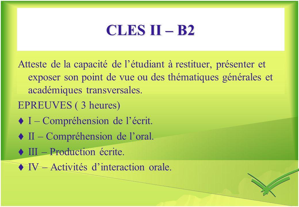 CLES II – B2