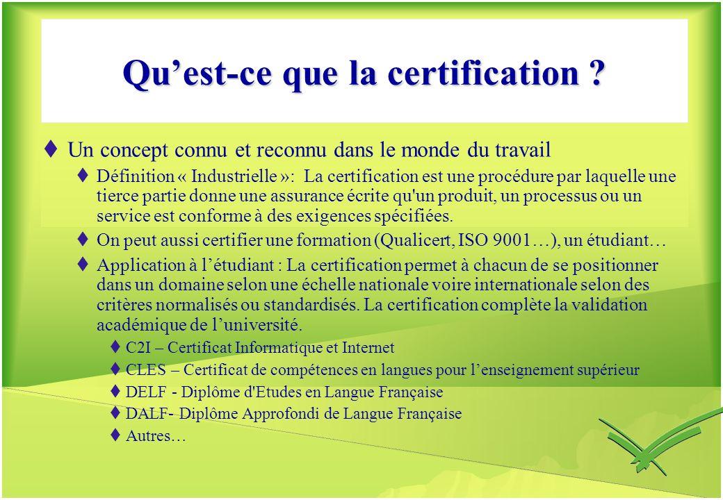 Qu'est-ce que la certification