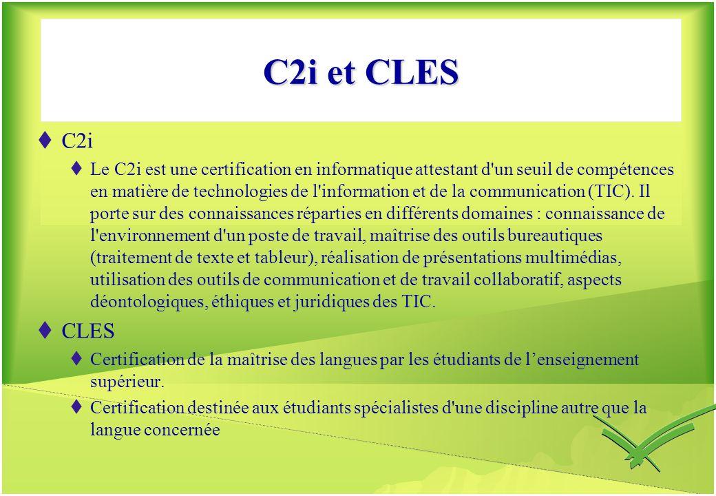 C2i et CLES C2i.