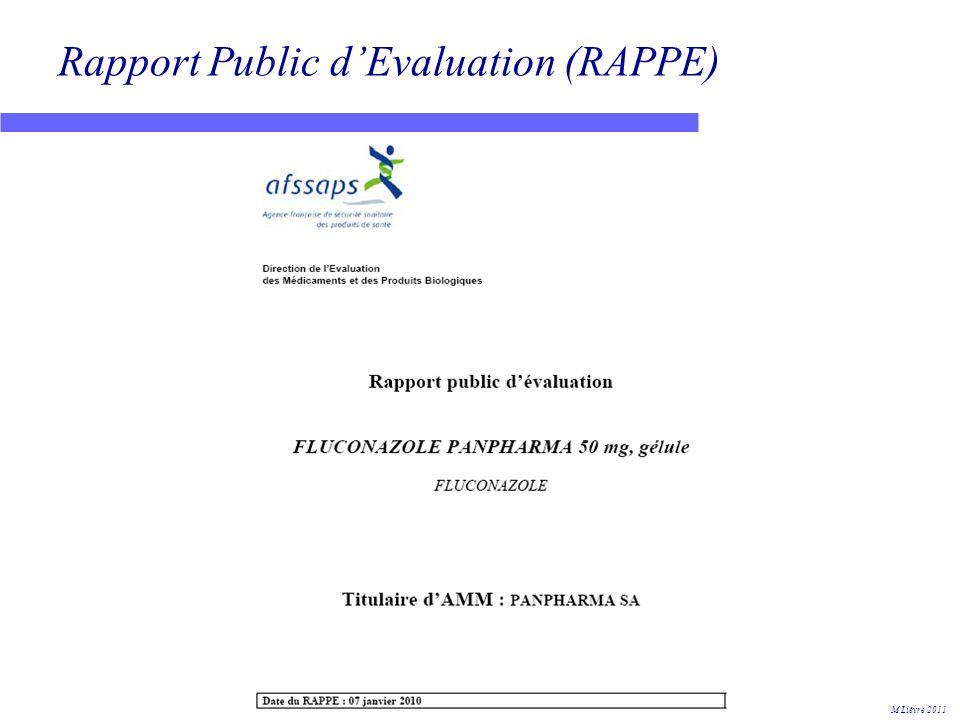 Rapport Public d'Evaluation (RAPPE)