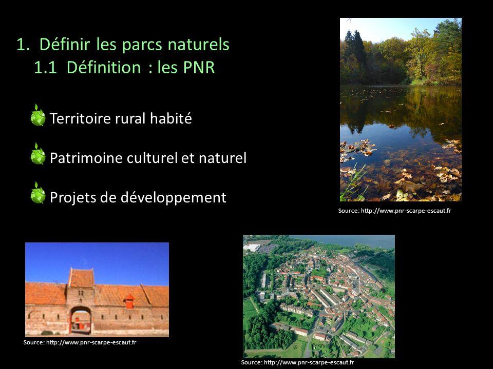 1. Définir les parcs naturels 1.1 Définition : les PNR
