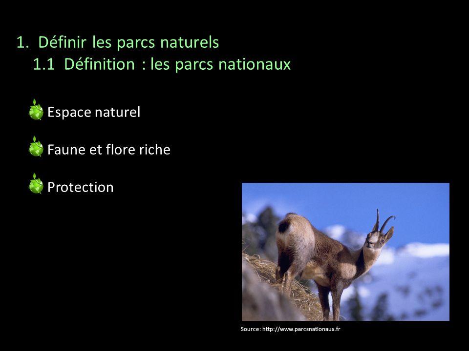 1. Définir les parcs naturels 1.1 Définition : les parcs nationaux