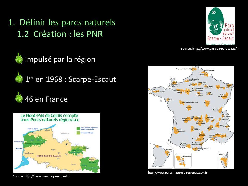 1. Définir les parcs naturels 1.2 Création : les PNR