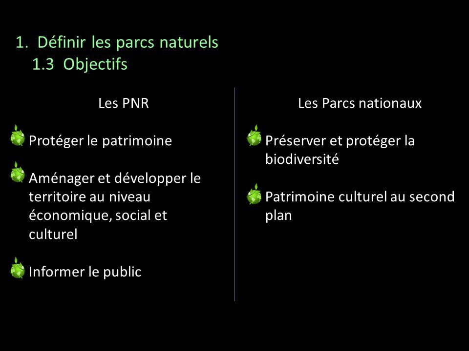 1. Définir les parcs naturels 1.3 Objectifs