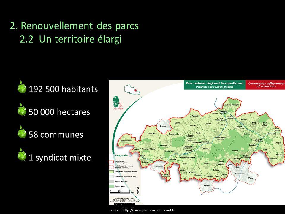 2. Renouvellement des parcs 2.2 Un territoire élargi