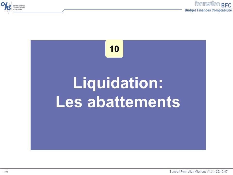 Liquidation: Les abattements