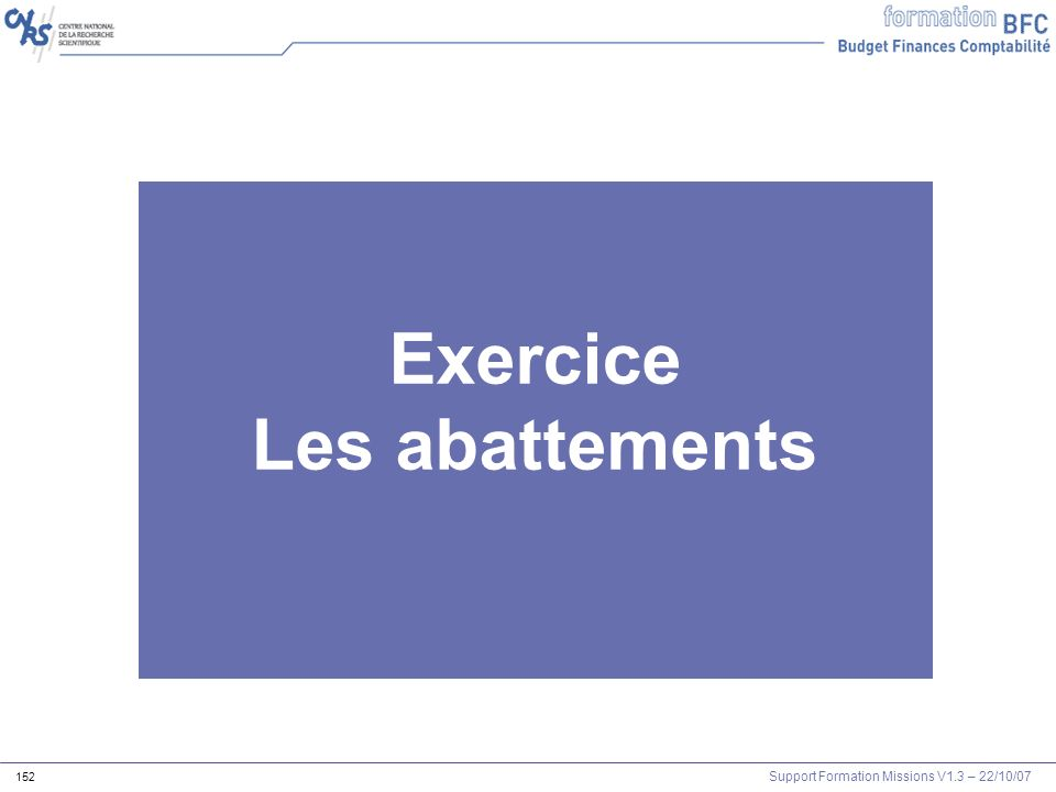 Exercice Les abattements