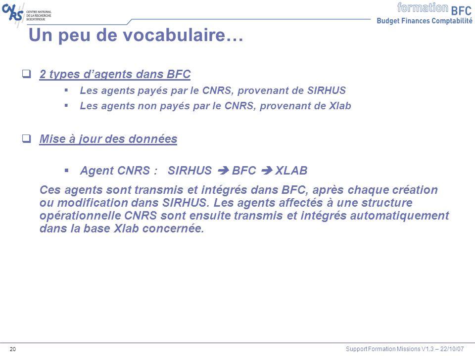 Un peu de vocabulaire… 2 types d'agents dans BFC