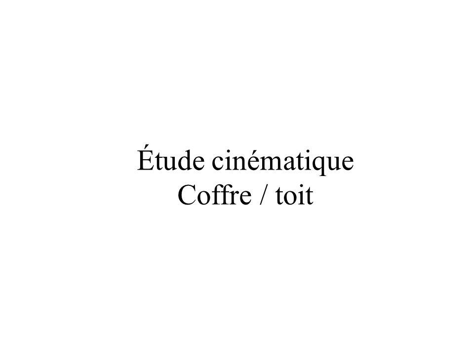 Étude cinématique Coffre / toit