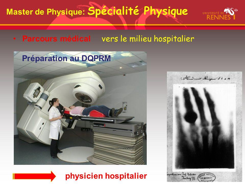 Master de Physique: Spécialité Physique