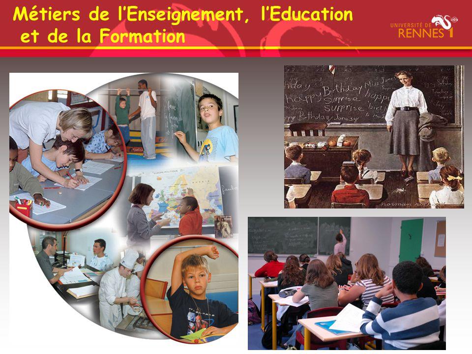 Métiers de l'Enseignement, l'Education