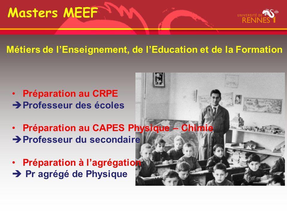 Masters MEEF Métiers de l'Enseignement, de l'Education et de la Formation. Préparation au CRPE. Professeur des écoles.