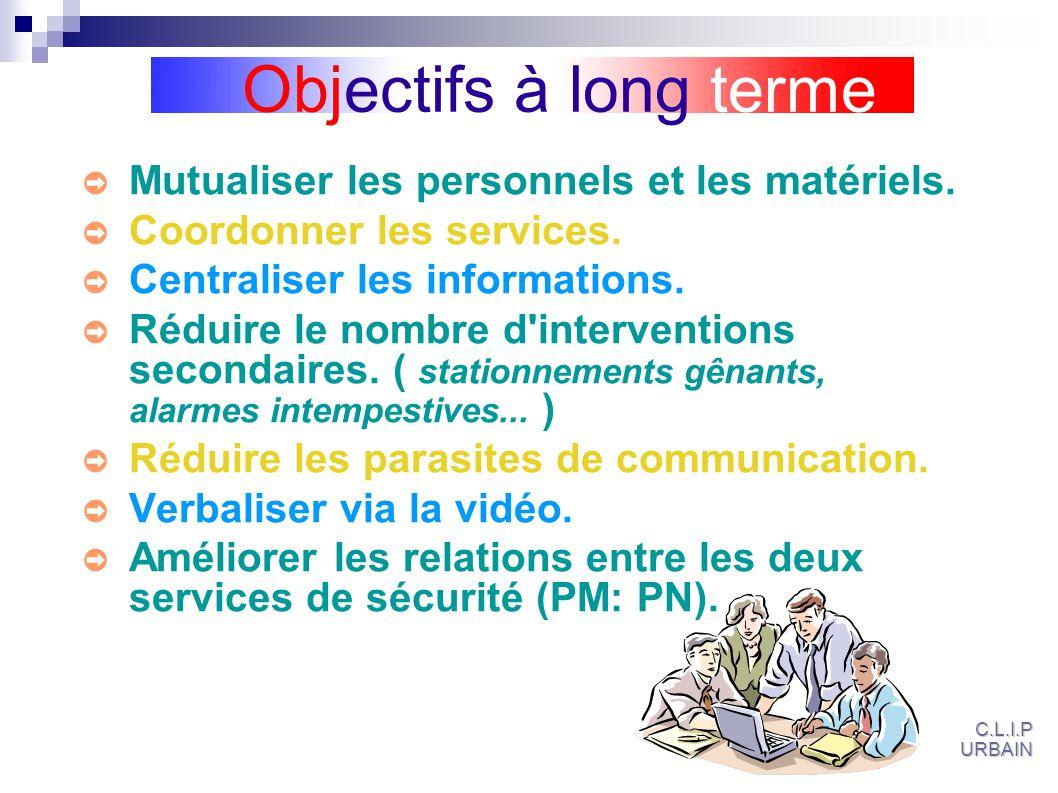 Objectifs à long terme Mutualiser les personnels et les matériels.