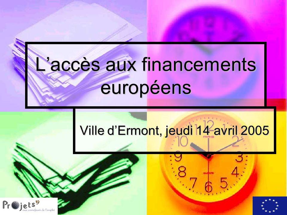 L'accès aux financements européens