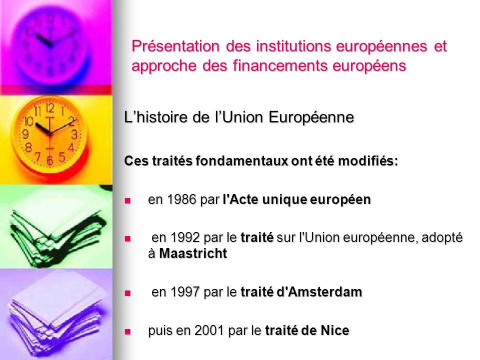 L'histoire de l'Union Européenne