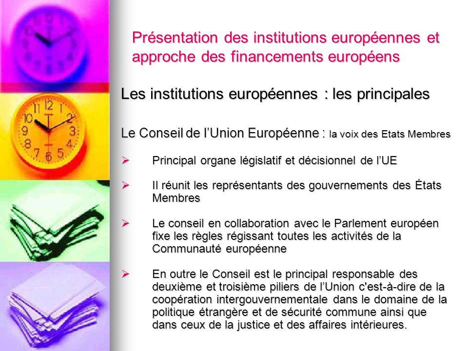 Les institutions européennes : les principales